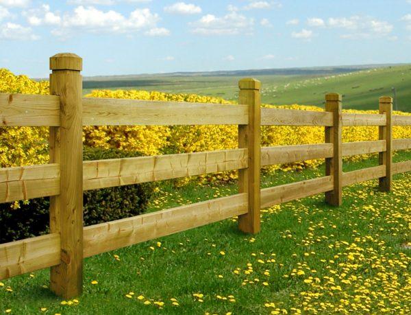 Woodford Chunky Post & Rail Fence web